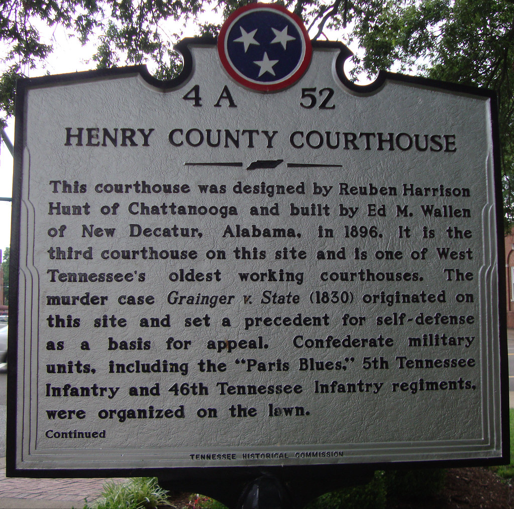 Henry county courthouse marker paris tennessee located flickr henry county courthouse marker paris tennessee by courthouselover sciox Choice Image