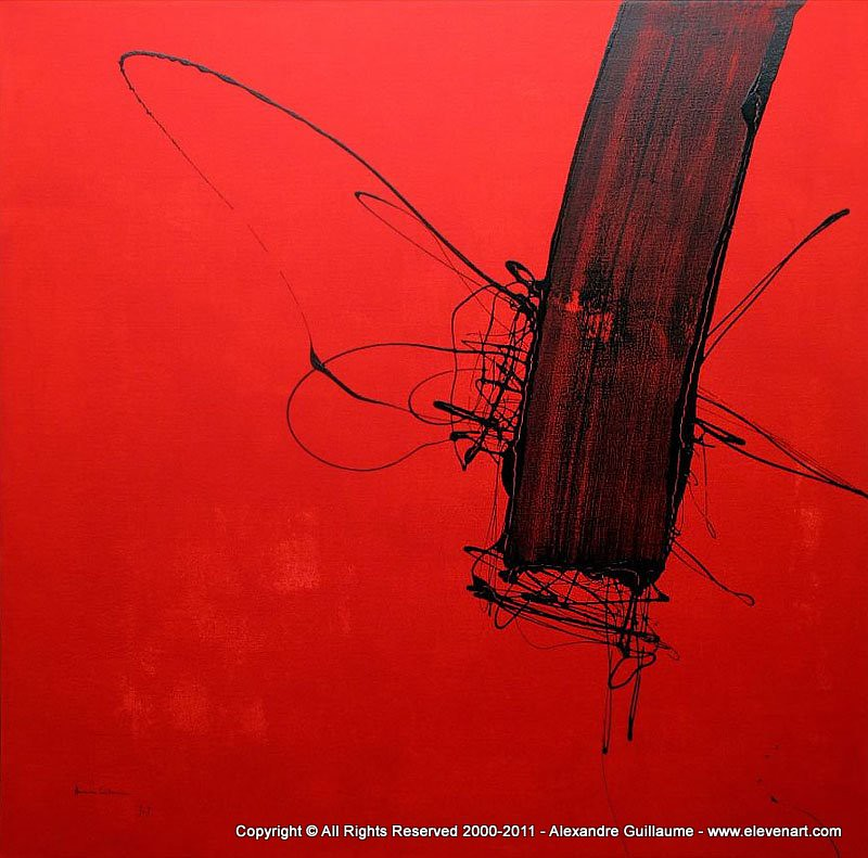 M503 peinture abstraite rouge art contemporain paris l for Peinture contemporaine