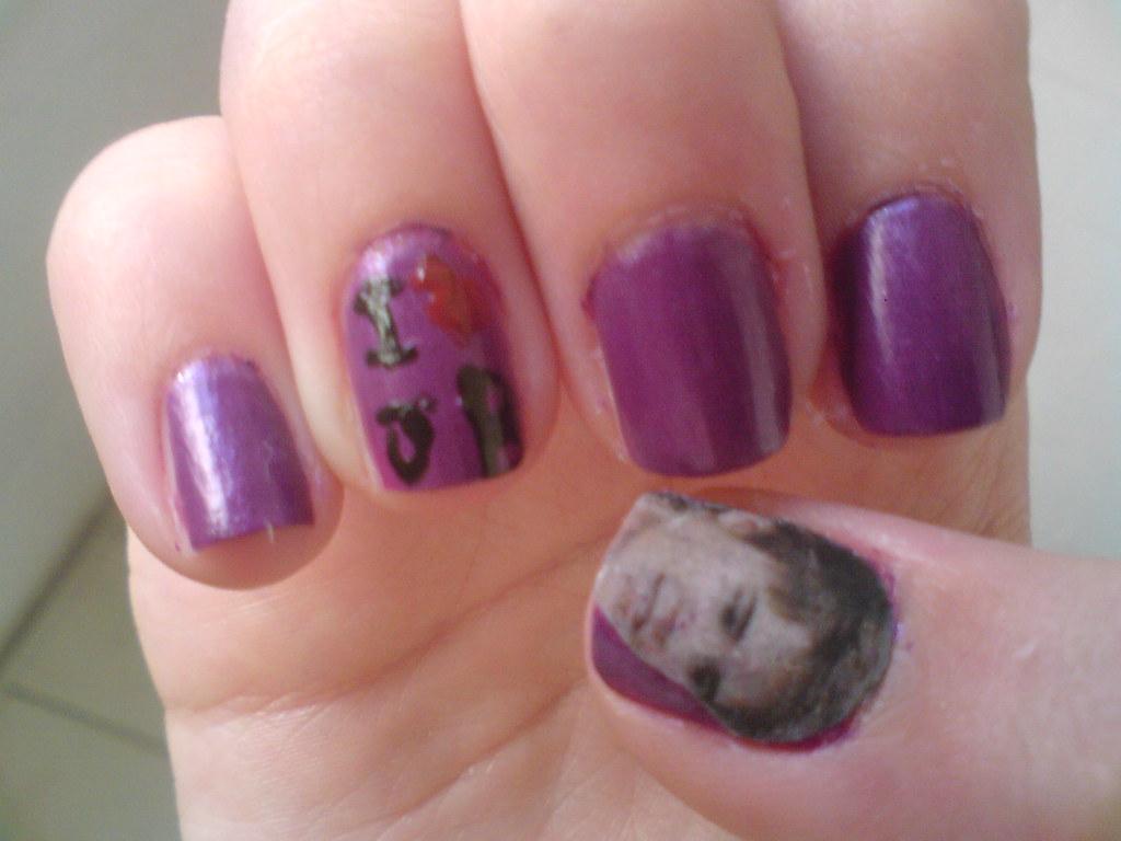 Nail art Justin Bieber   ♥_♥   Esmaltes Na Unha .   Flickr