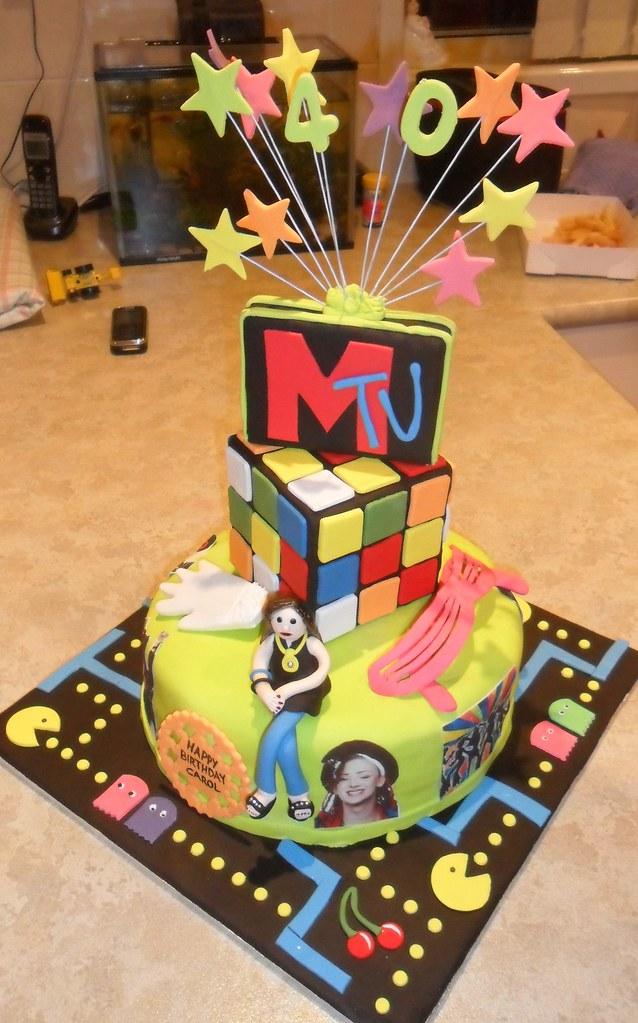 80s theme birthday cake | chocolate mud cake, filled with ...