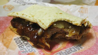 the chicken mcrib flatbread sandwich | by rusteford