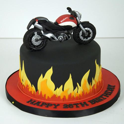 flame ducati motorcycle cake toronto A 6