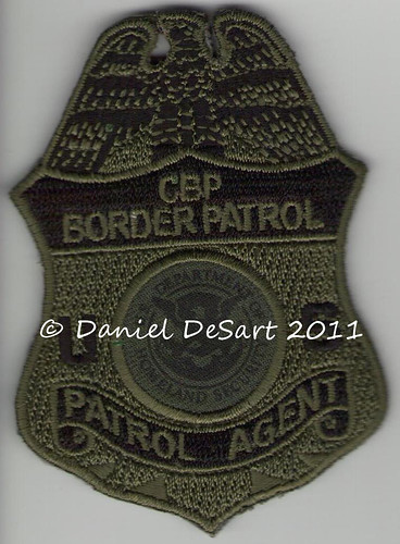 cbp border patrol subdued badge patch subdued variant of