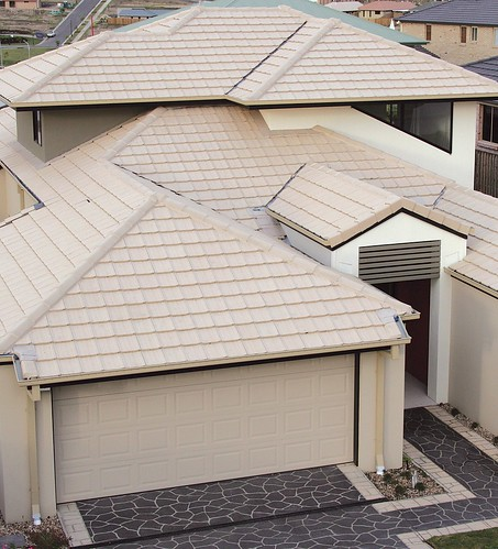 Beach Concrete Roof Tiles Contemporary Home Featuring