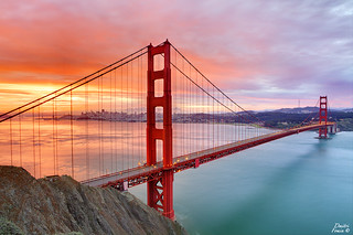 November sunrise at Golden Gate bridge | by Dmitri007