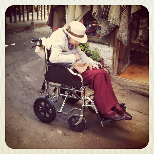 Old Lady in Wheelchair | Santiago, Chile #chile #iphone # ...