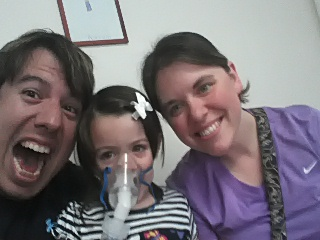 Being silly during Samara's Albuterol treatment | by Willful