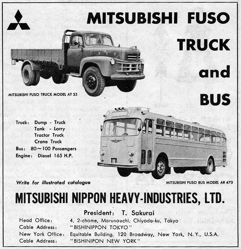 1960 Mitsubishi Fuso Truck & Bus ad | International ...