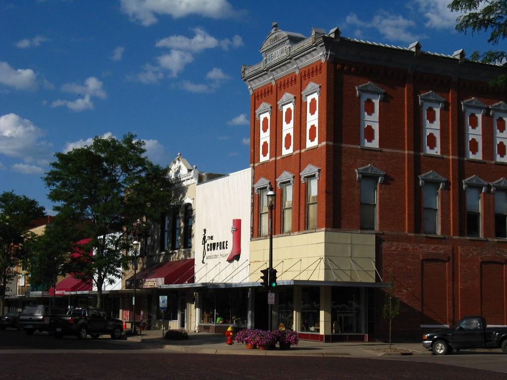 Kearney Nebraska Downtown Kearney With The Red Brick