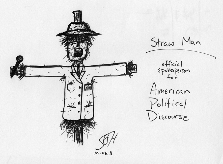 straw man  official spokesperson for american political di