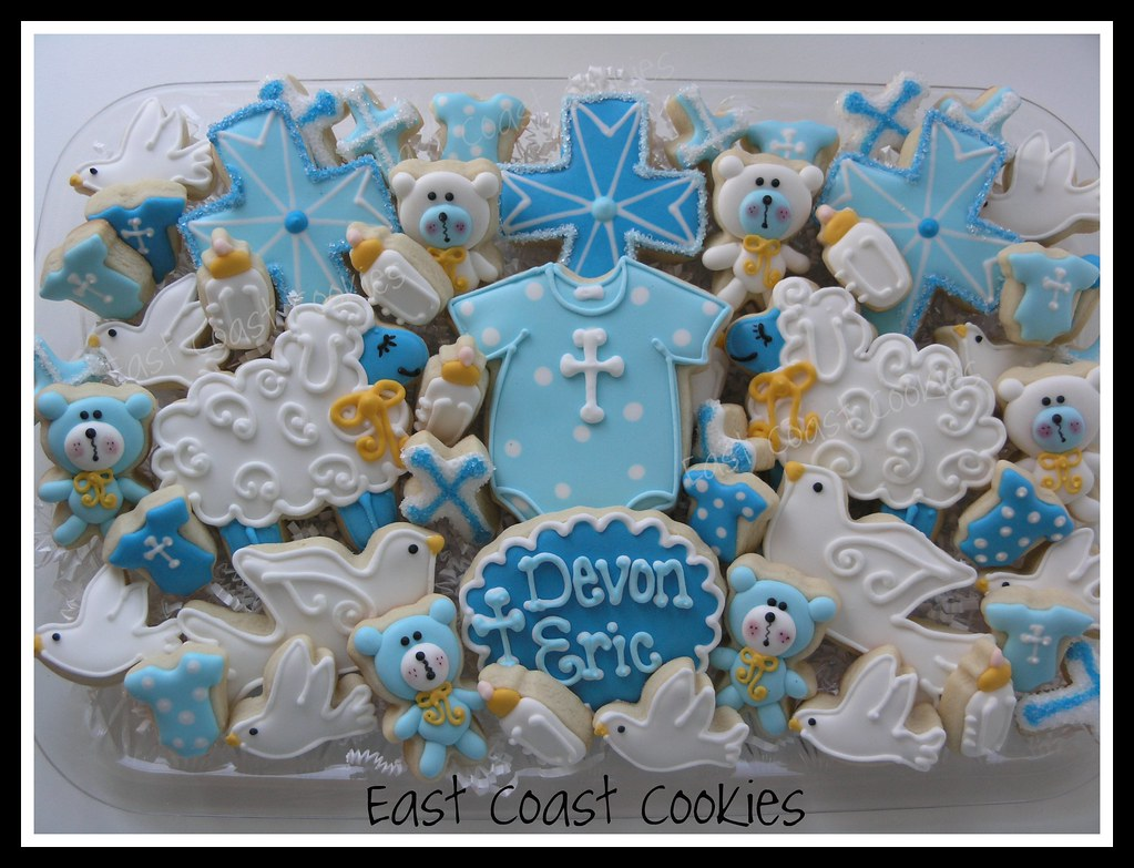 ... Baby Boy Christening cookies | by Coastal Cookie Shoppe (was east coast cookies) & Baby Boy Christening cookies | Made the same night I made thu2026 | Flickr