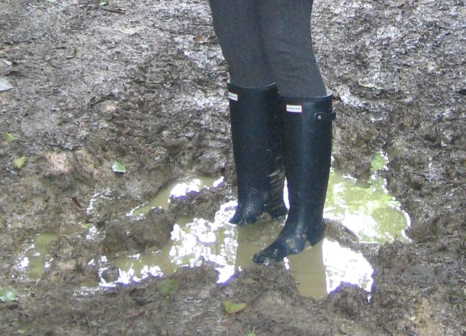Hunter Wellies In Mud C 233 Line Flickr