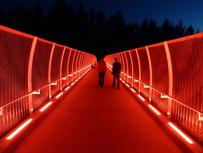 Artistic Lighting Illuminates The New Pioneer Overpass In