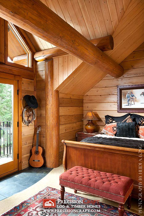 Second Story Bedroom Custom Log Home Precisioncraft Lo Flickr