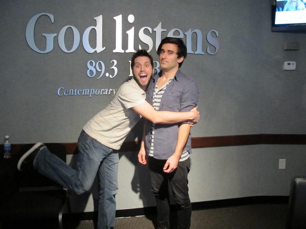 Drew's awkward hug with Phil Wickham | NGEN radio | Flickr
