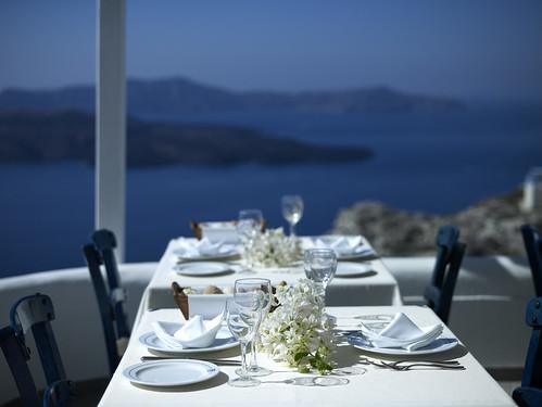 Caldera restaurant volcano view santorini for Meilleur hotel santorin