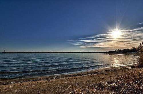 Sunset over Saginaw Bay, East Tawas, Michigan | by Tyr-Sog