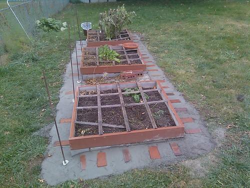 weed barrier for raised bed gardens we added a strip of co flickr. Black Bedroom Furniture Sets. Home Design Ideas