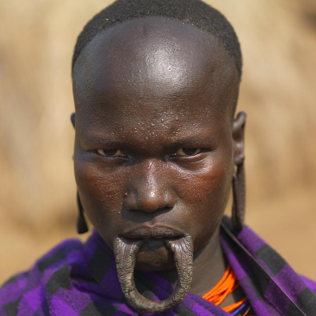 Mursi Woman - Maggo Ethiopia  Mursi Woman Without Her -8388