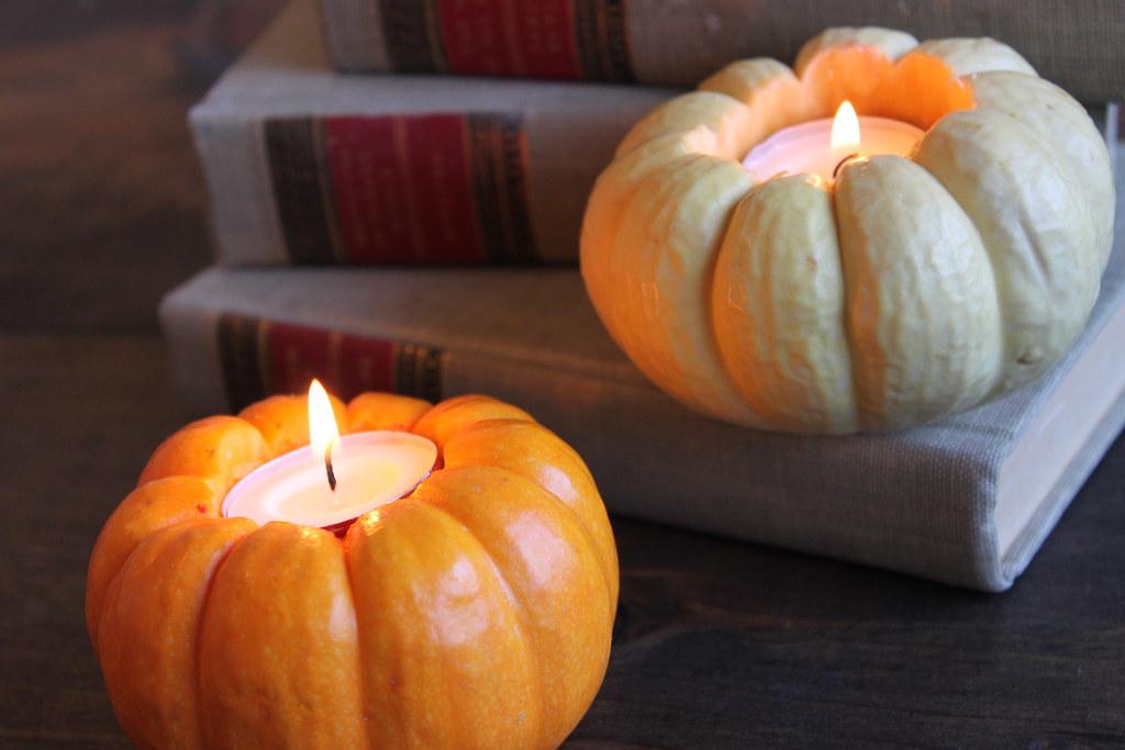 diy mini pumpkin votive holders | Kristen Pumphrey | Flickr