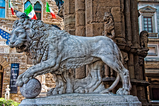 Lion Statue Piazza del Signoria Florence | by berenice29