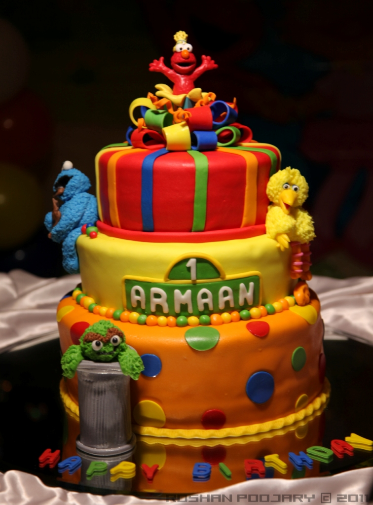 Cake Images Roshan : Birthday cake Sesame Street theme birthday cake, during ...