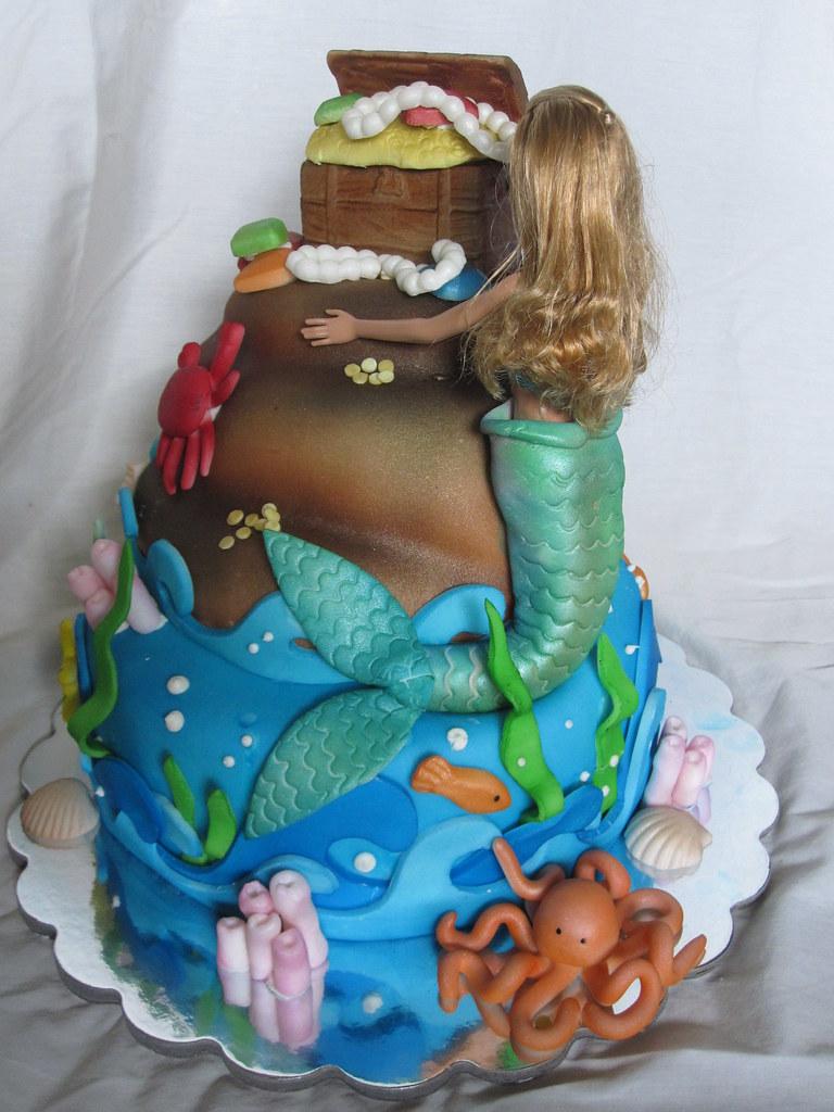 Mermaid Doll Birthday Cake