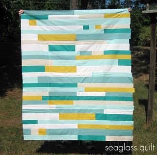 seaglass quilt top | by three_little_pumpkins