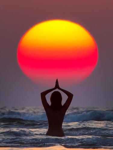 sun salutation surya namaskar  india maharashtra