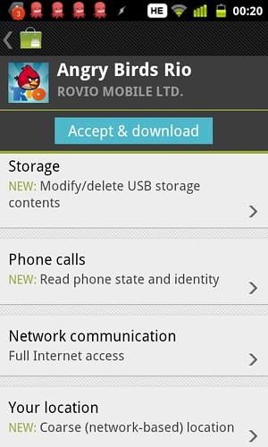 Why does @AngryBirds Rio for Android need more permissions?? | by Yoav F
