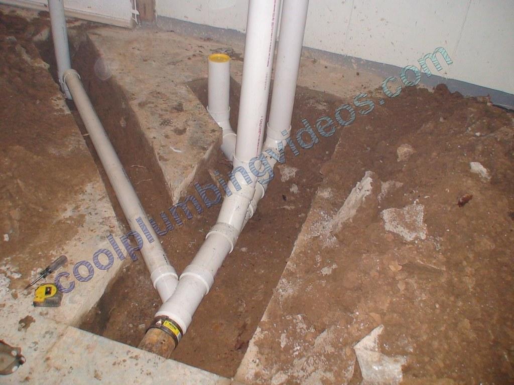 plumbing pipes install basement floor for half bath plumbe flickr