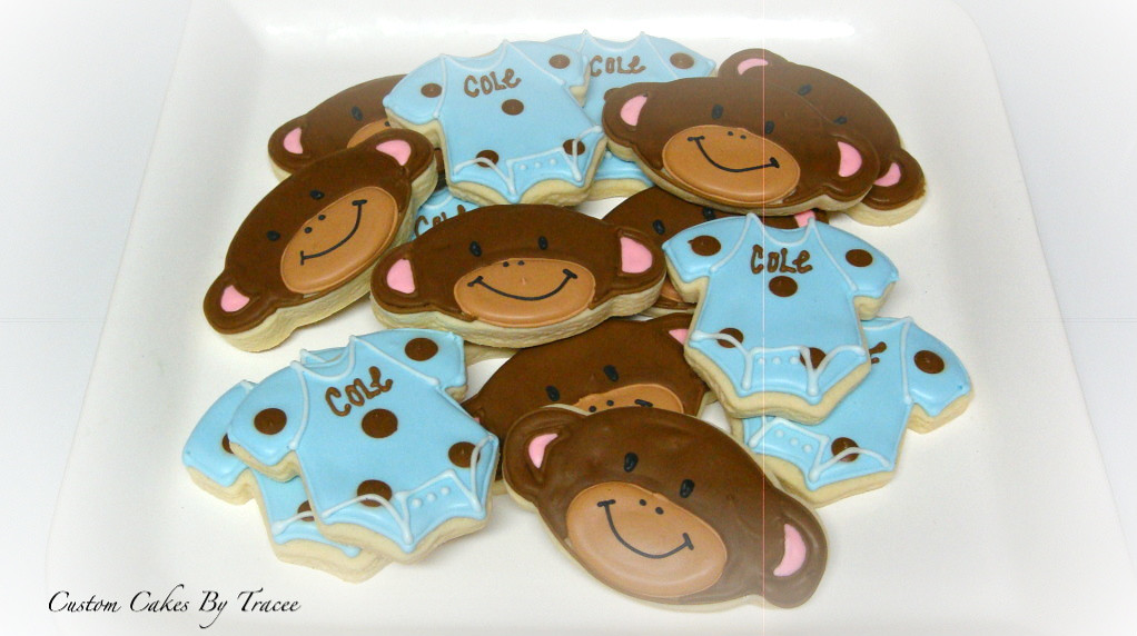 Monkey Baby Shower Cookies Tracee Flickr
