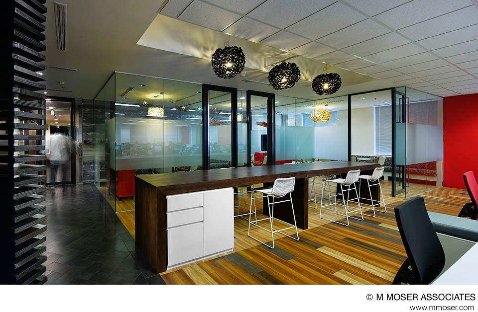 Creative office design by m moser associates m moser for Commercial office space design ideas