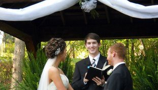 WEDDING MINISTER ATLANTA BOTANICAL GARDENS WEDDING