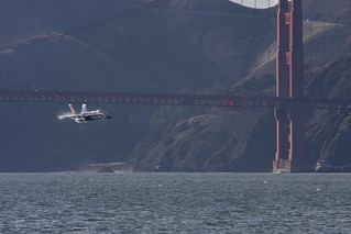 Blue Angels Number Five and The Golden Gate Bridge | by Douglas Bawden Photography