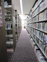 parchment Library stacks
