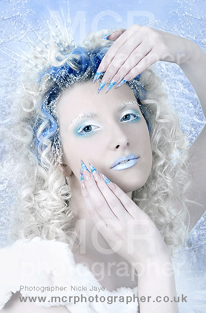 Snow Queen Christmas Photoshoot For Nsi Nails Hair