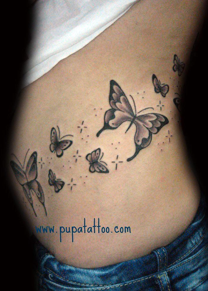 Tatuaje Mariposas Pupa Tattoo Granada Pupa Tattoo Art Gall Flickr - Mariposas-tatuaje
