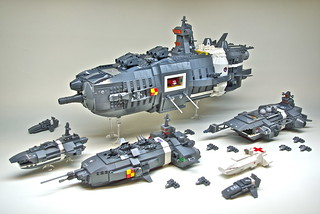 U.E.F. Battle Group - Microscale LEGO spaceships (1) | by Dunechaser