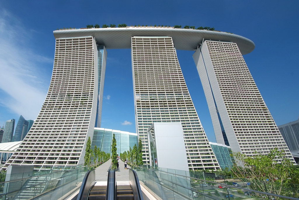 by marina bay sands link bridge to gardens by the bay by - Garden By The Bay Marina Bay Sands