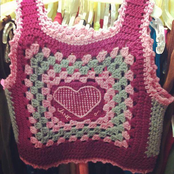 Crochet Granny Square Vest Pattern : Crochet Granny Square Heart Vest Elizabeth Rogers ...