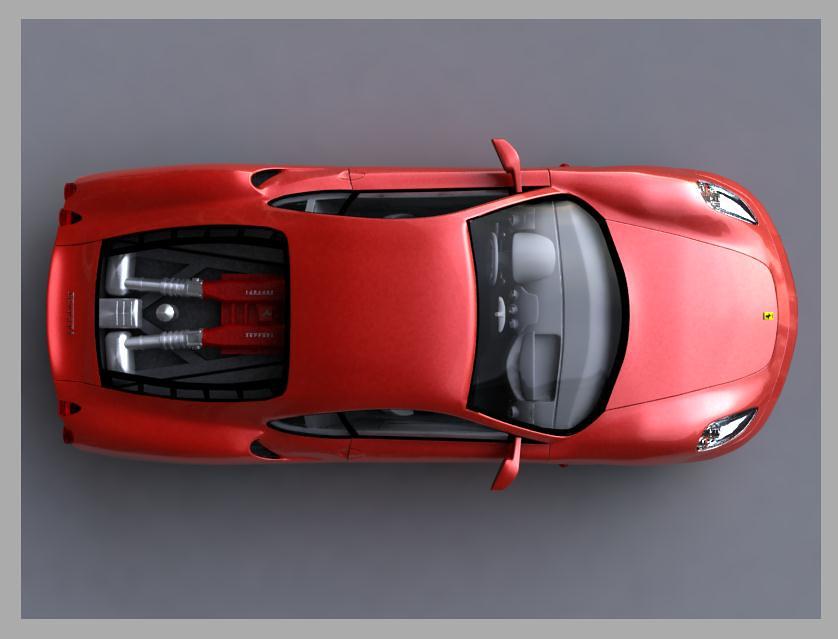 Ferrari F430 Top Ferrari F430 Modeled In 3ds Max And