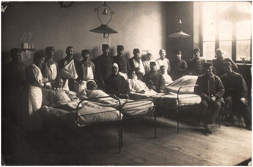 Hospital ward, Sainte Adresse, Le Havre, November 1914 | by whatsthatpicture