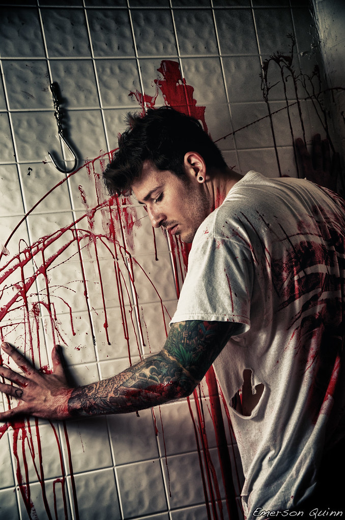 Room With Bloody Red Paint And Eyeball