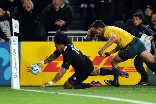 Ma'a Nonu goes over the line for the first try 16/10/2011 | by rugbyworldcup_