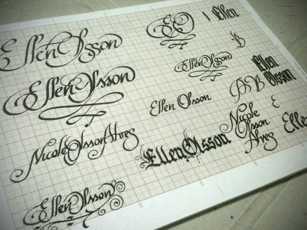 Calligraphy ideas some sketches i made for my wife s