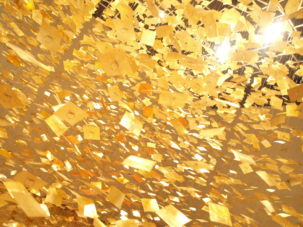 Golden rain on a forest clearing 6