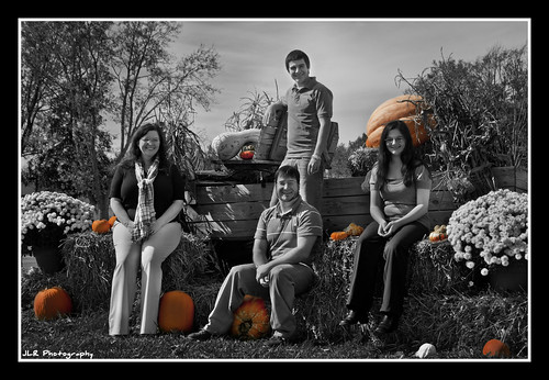 Fall Family Photo B&W | by J.L. Ramsaur Photography