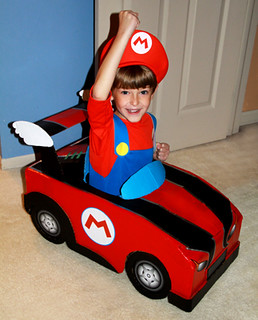 final mario kart halloween costume diy handmade from a plain cardboard box by isewcute | by isewcute