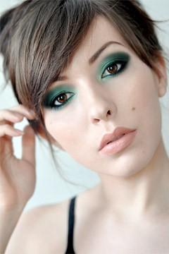 Aqua Green and Black Eyeshadow | jordan23queen | Flickr